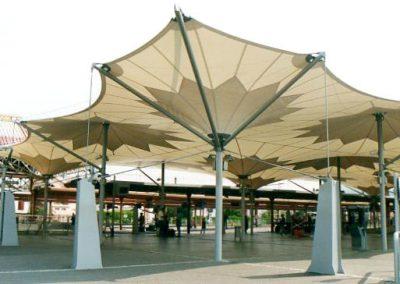 Gare de Lourdes - structure galvanisée